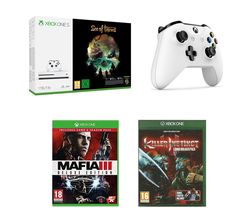 MICROSOFT Xbox One S, Sea of Thieves, Mafia III Deluxe Edition, Killer Instinct Combo Breaker Pack & Xbox Wireless Controller Bundle