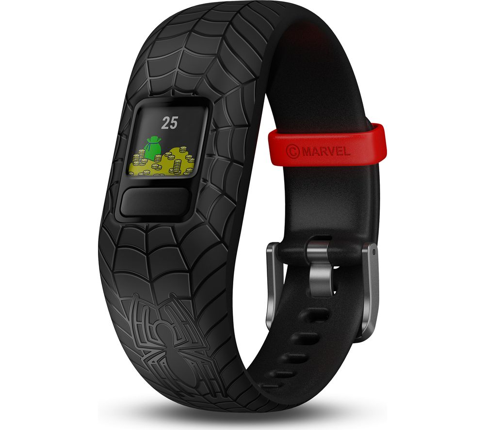 Vivofit Jr 2 Kid's Activity Tracker   Black Spider Man, Adjustable Band by Currys