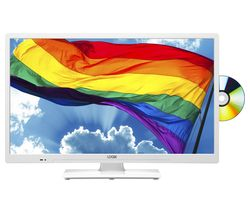 "LOGIK L24HEDW19 24"" HD Ready LED TV with Built-in DVD Player - White"