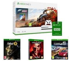 MICROSOFT Xbox One S, Forza Horizon 4, Project Cars 2, Tekken 7, Fallout 76 & LIVE Gold 3 Month Subscription Bundle