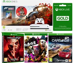 MICROSOFT Xbox One S, Forza Horizon 4, Apex Legends, Rage 2, Project Cars, Tekken 7 & 3 Months LIVE Gold Bundle