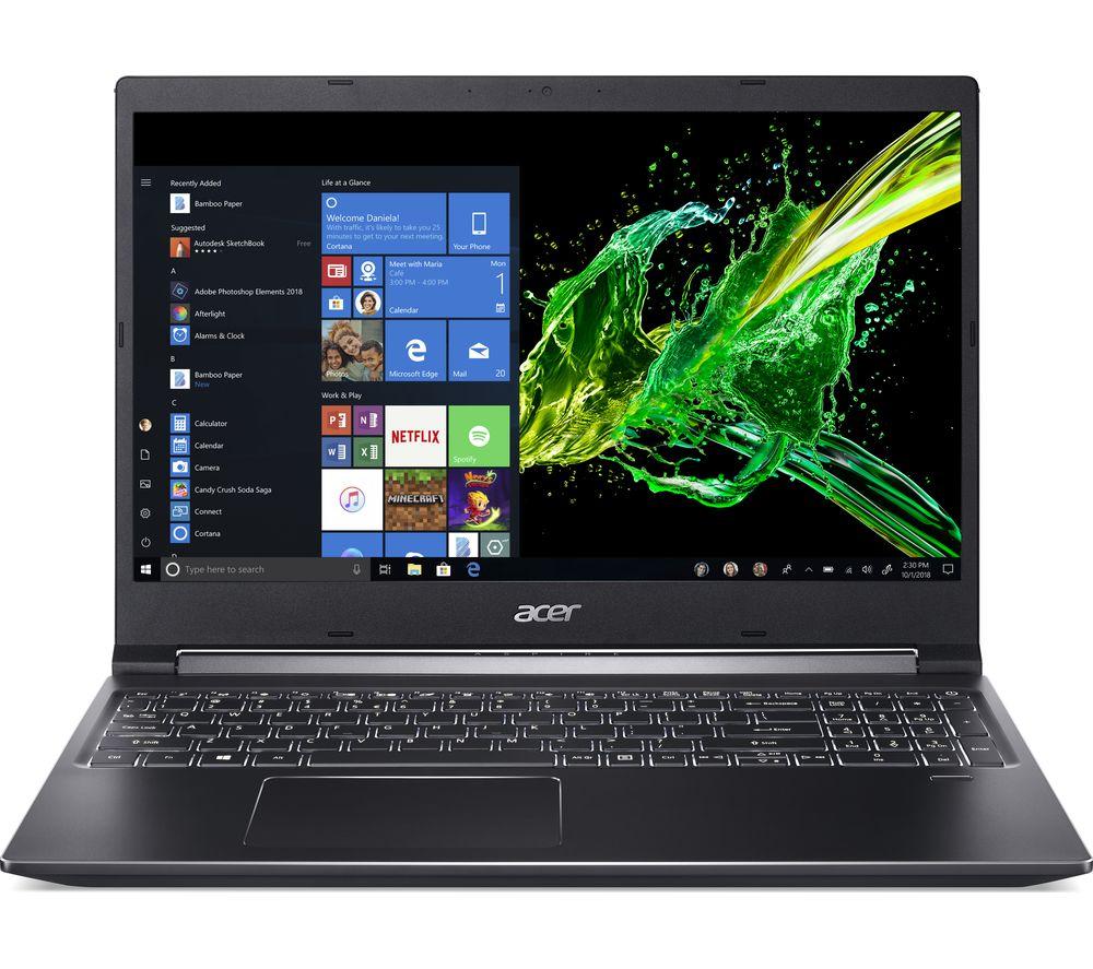 "Image of ACER Aspire 7 A715-74G 15.6"" Intel® Core™ i5 Laptop - 512 GB SSD, Black, Black"