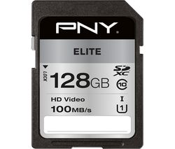 Elite Class 10 SDXC Memory Card - 128 GB