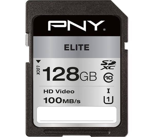 Image of PNY Elite Class 10 SDXC Memory Card - 128 GB