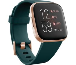 FITBIT Versa 2 with Amazon Alexa - Emerald & Copper Rose