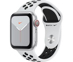 Watch Series 5 Cellular - Silver Aluminium with Platinum & Black Nike Sports Band, 40 mm