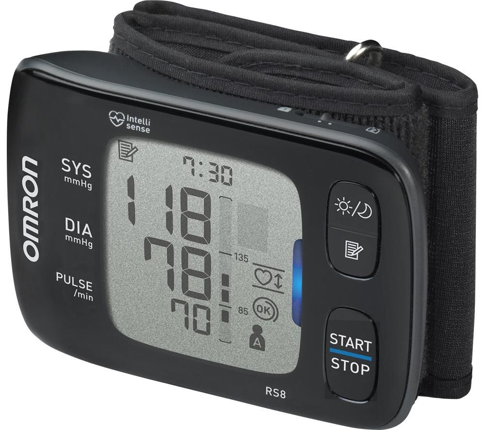 OMRON RS8 Smart Wrist Blood Pressure Monitor - Black