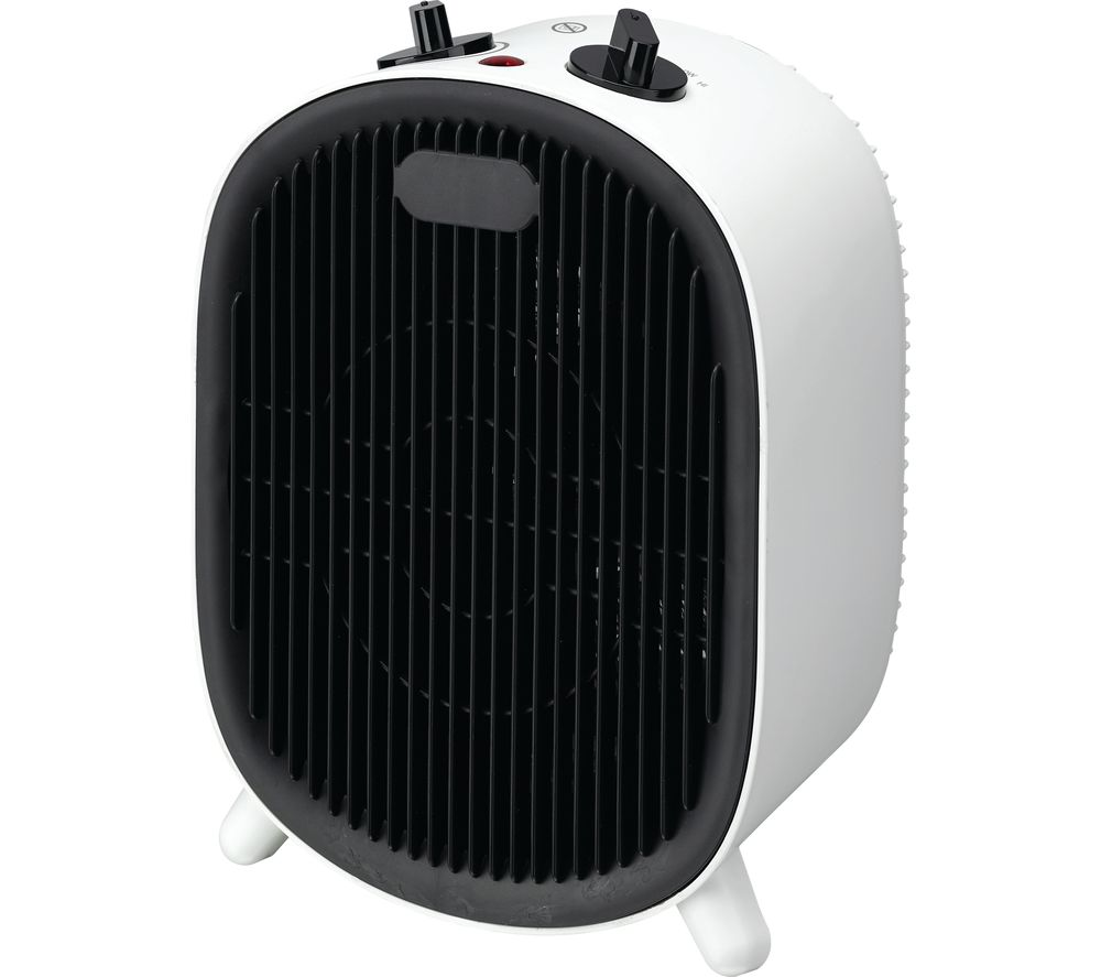 ESSENTIALS C20FHW20 Fan Heater - Black & White