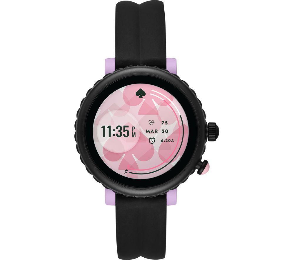 Image of KATE SPADE Scallop Sport KST2017 Smartwatch - Black & Purple, Silicone Strap, 41 mm, Black