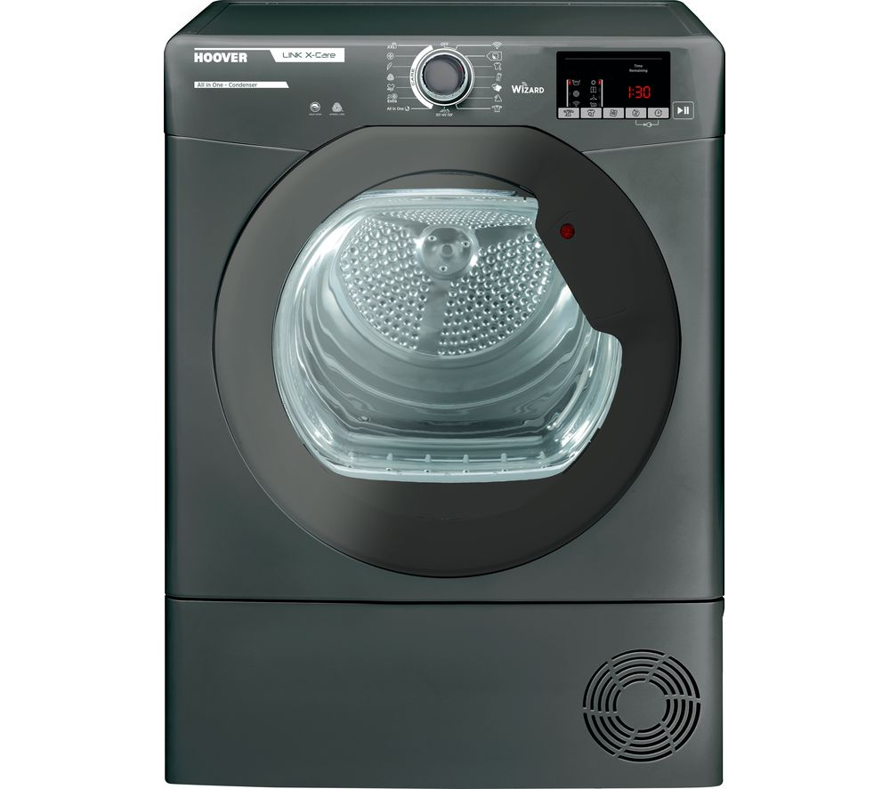 HOOVER Link X Care HLX C9DRGR WiFi-enabled 9 kg Condenser Tumble Dryer - Graphite