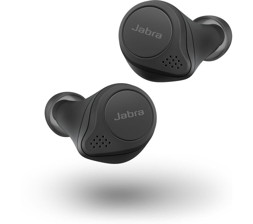JABRA Elite 75T Wireless Charging Enabled Wireless Bluetooth Earphones - Black