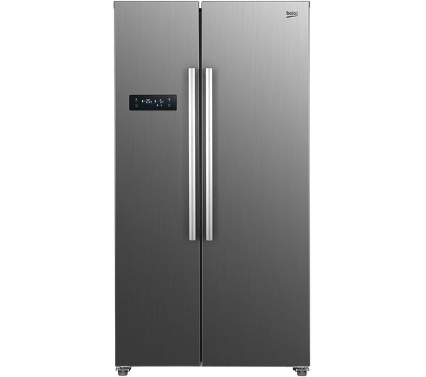 BEKO ASL1331PX American-Style Fridge Freezer - Brushed Steel