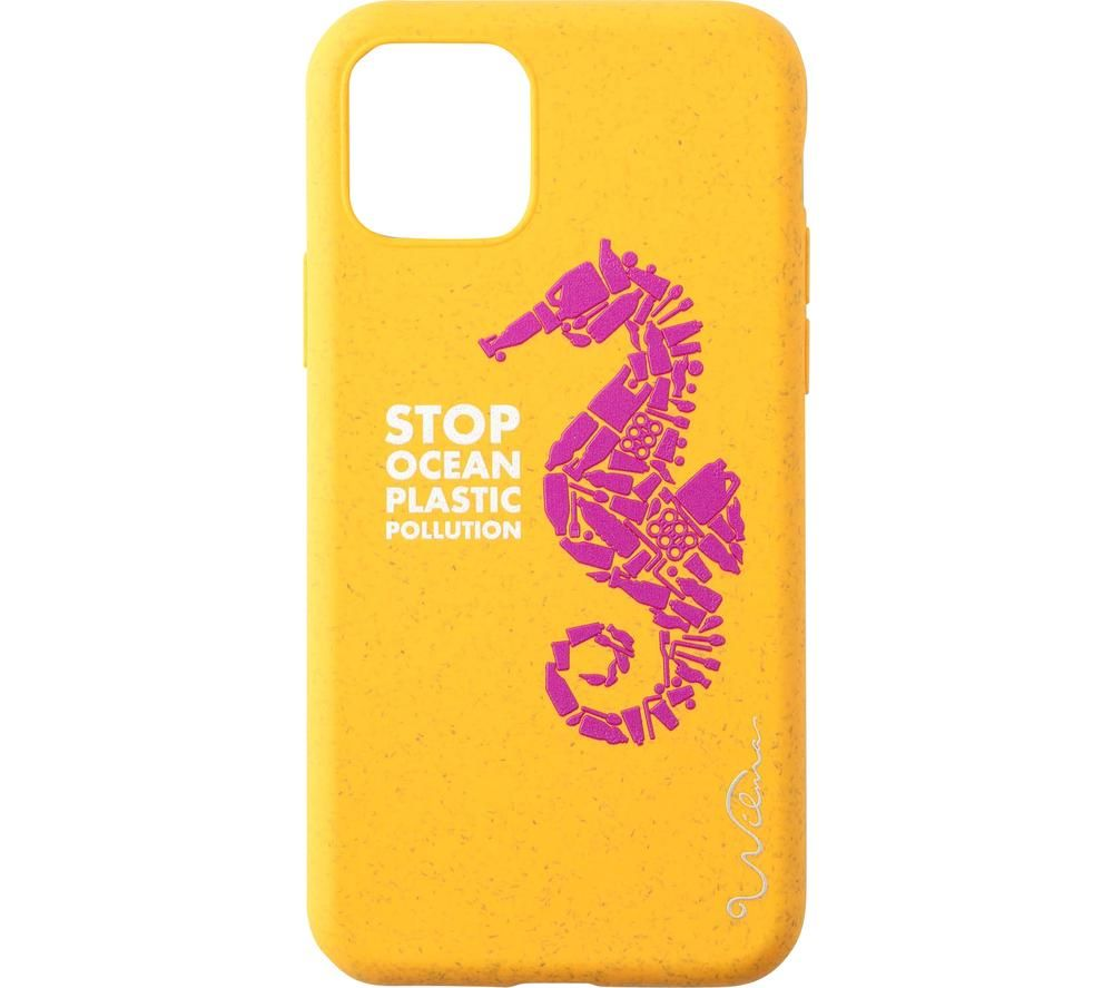 WILMA Stop Ocean Plastic Pollution Seahorse iPhone 11 Pro Case - Pink & Yellow