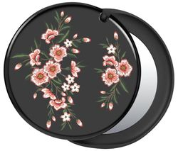 Swappable PopMirror Phone Grip - Pink Blossom & Black
