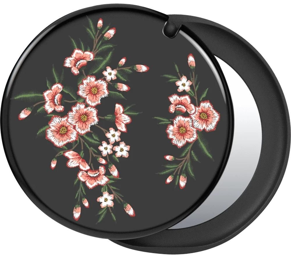 POPSOCKETS Swappable PopMirror Phone Grip - Pink Blossom & Black