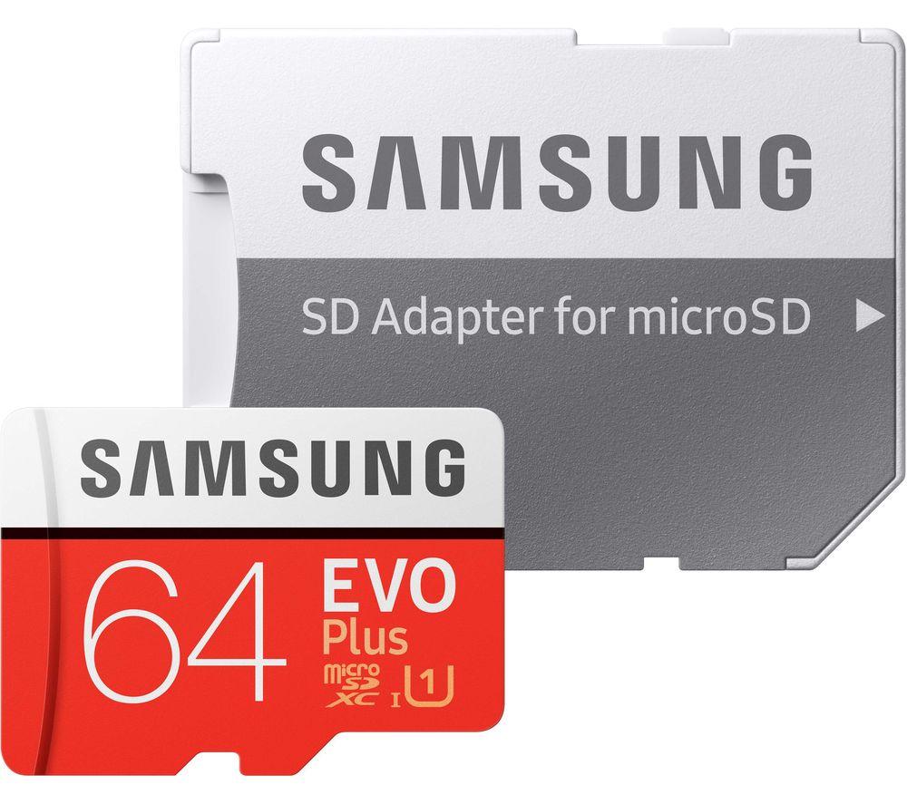 SAMSUNG Evo Plus Class 10 microSD Memory Card - 64 GB