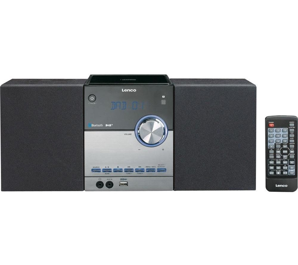 LENCO MC-150 Bluetooth Micro Hi-Fi System - Grey