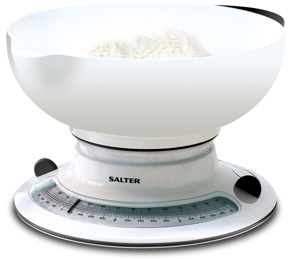 SALTER 800 WHBKDR Kitchen Scales - White