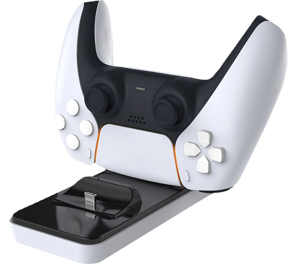 WHITE SHARK CLINCH Twin Docking Station - PS5, White