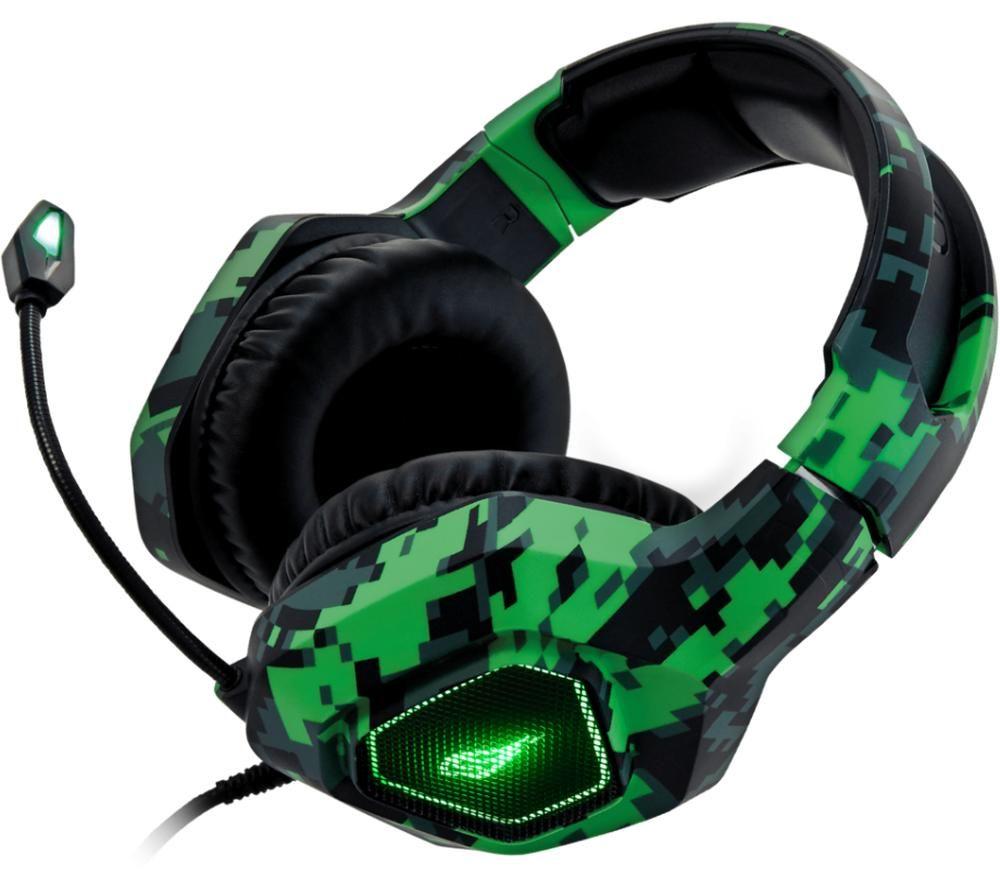 SUREFIRE Skirmish Stereo Gaming Headset - Black & Green