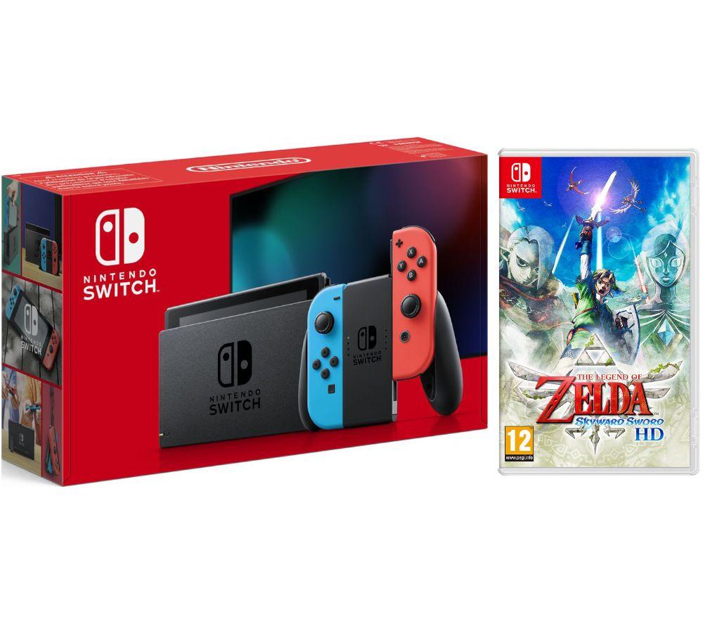 NINTENDO Switch Neon & The Legend of Zelda: Skyward Sword HD Bundle, Neon