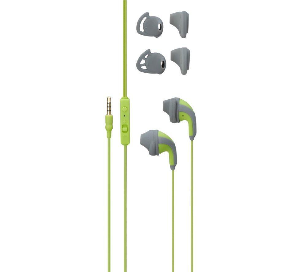GOJI GINFIN14 Headphones - Green & Grey