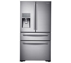 SAMSUNG RF24HSESBSR/EU American-Style Fridge Freezer - Real Stainless
