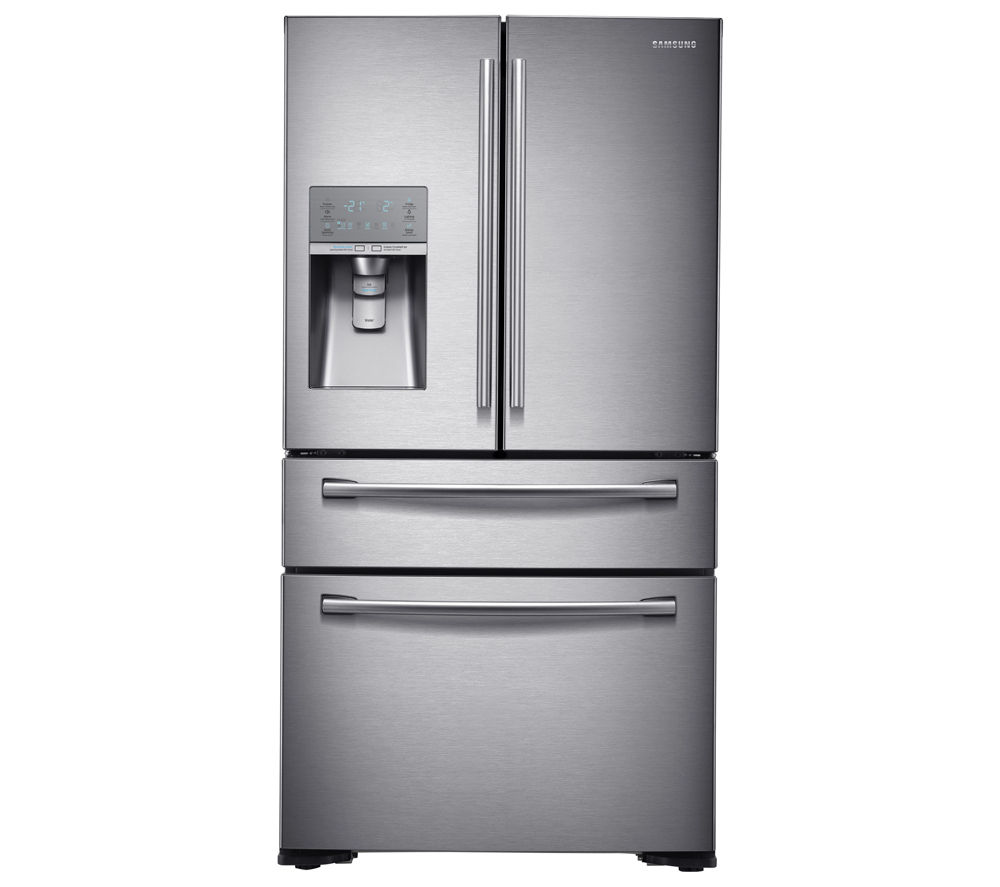 buy samsung rf24hsesbsr american style fridge freezer real stainless free delivery currys. Black Bedroom Furniture Sets. Home Design Ideas