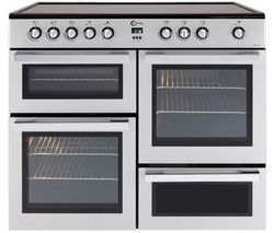 MLN10CRS Electric Ceramic Range Cooker - Silver & Chrome