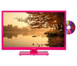"LOGIK L24HEDP15 24"" LED TV with Built-in DVD Player - Pink"