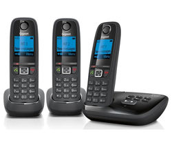AL415A Cordless Phone with Answering Machine - Triple Handsets