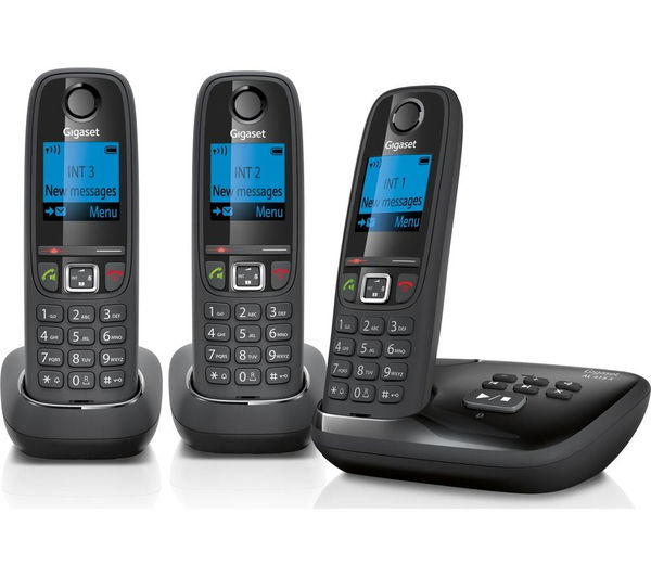 Image of GIGASET AL415A Cordless Phone with Answering Machine - Triple Handsets