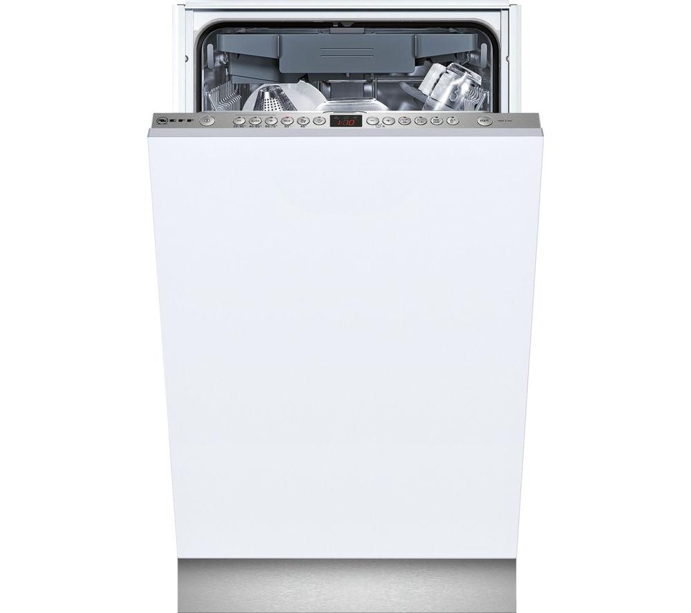 NEFF S58T69X1GB Slimline Integrated Dishwasher + K4316X7GB Integrated Undercounter Fridge