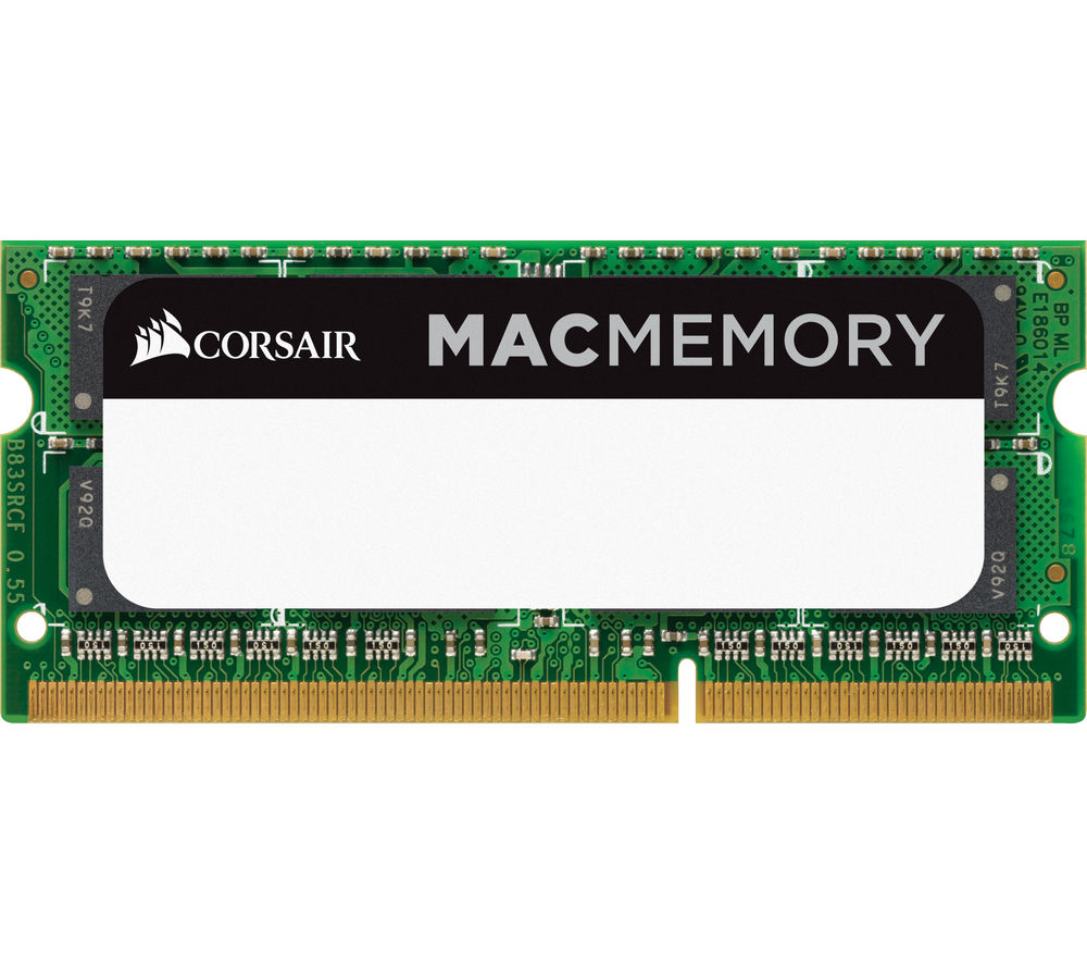 Compare prices for Corsair Mac Memory DDR3 PC Memory Card 8GB SODIMM RAM