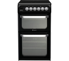 HOTPOINT HUE52KS Electric Ceramic Cooker - Black