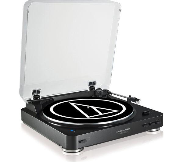 Image of AUDIO TECHNICA AT-LP60BT Bluetooth Turntable - Black