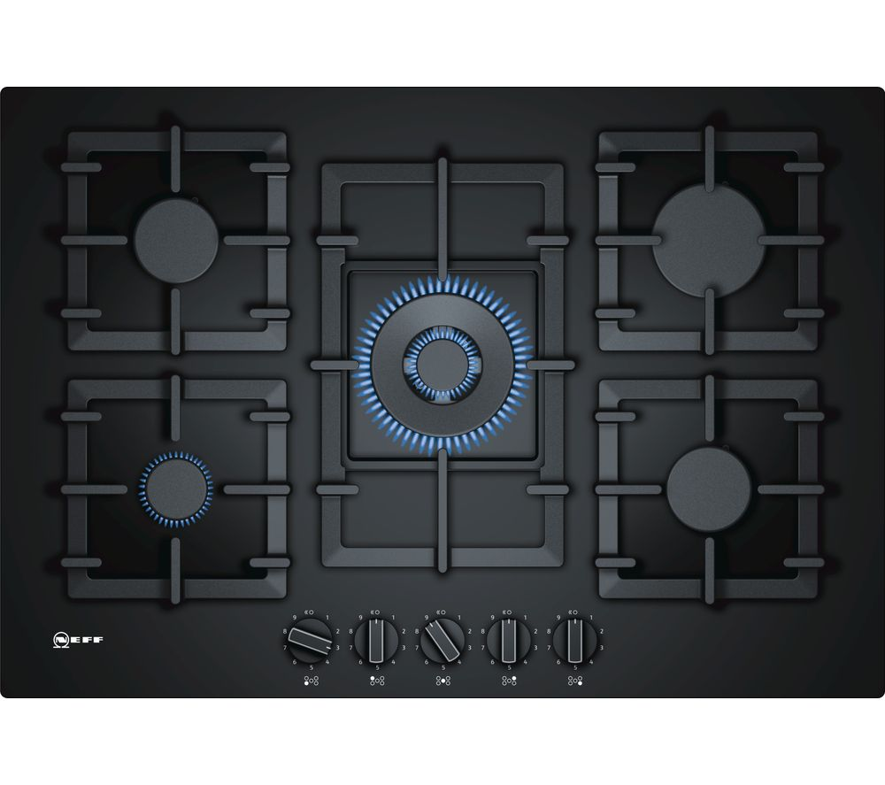 NEFF T27CS59S0 Gas Hob - Black, Black