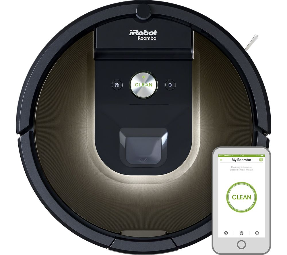 Buy IROBOT Roomba 980 Robot Vacuum Cleaner - Black | Free Delivery ...