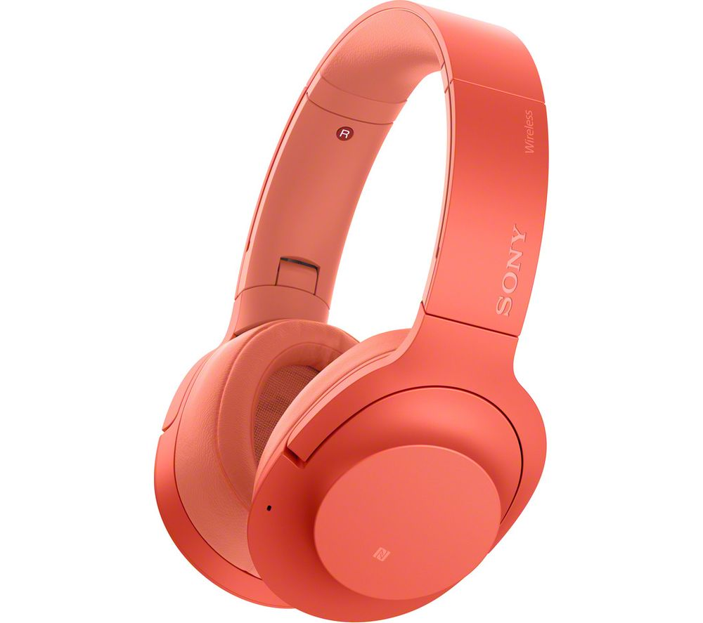SONY WH-H900N Wireless Bluetooth Noise-Cancelling Headphones - Red