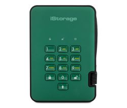 ISTORAGE diskAshur2 Portable Hard Drive - 500 GB, Green