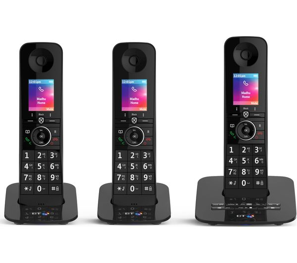 fe8456a10 An image of BT Premium 090632 Cordless Phone - Triple Handsets