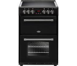 BELLING Farmhouse 60E 60 cm Electric Ceramic Cooker - Black Best Price, Cheapest Prices