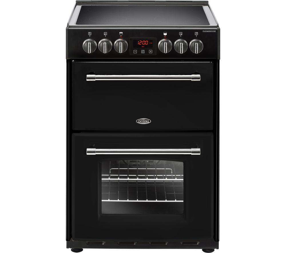 BELLING Farmhouse 60E 60 cm Electric Ceramic Cooker - Black