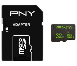 PNY High Performance Class 10 microSD Memory Card - 32 GB