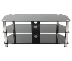 SDC1140CM TV Stand - Black & Chrome
