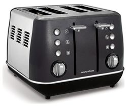 MORPHY RICHARDS Evoke One 4-Slice Toaster - Black