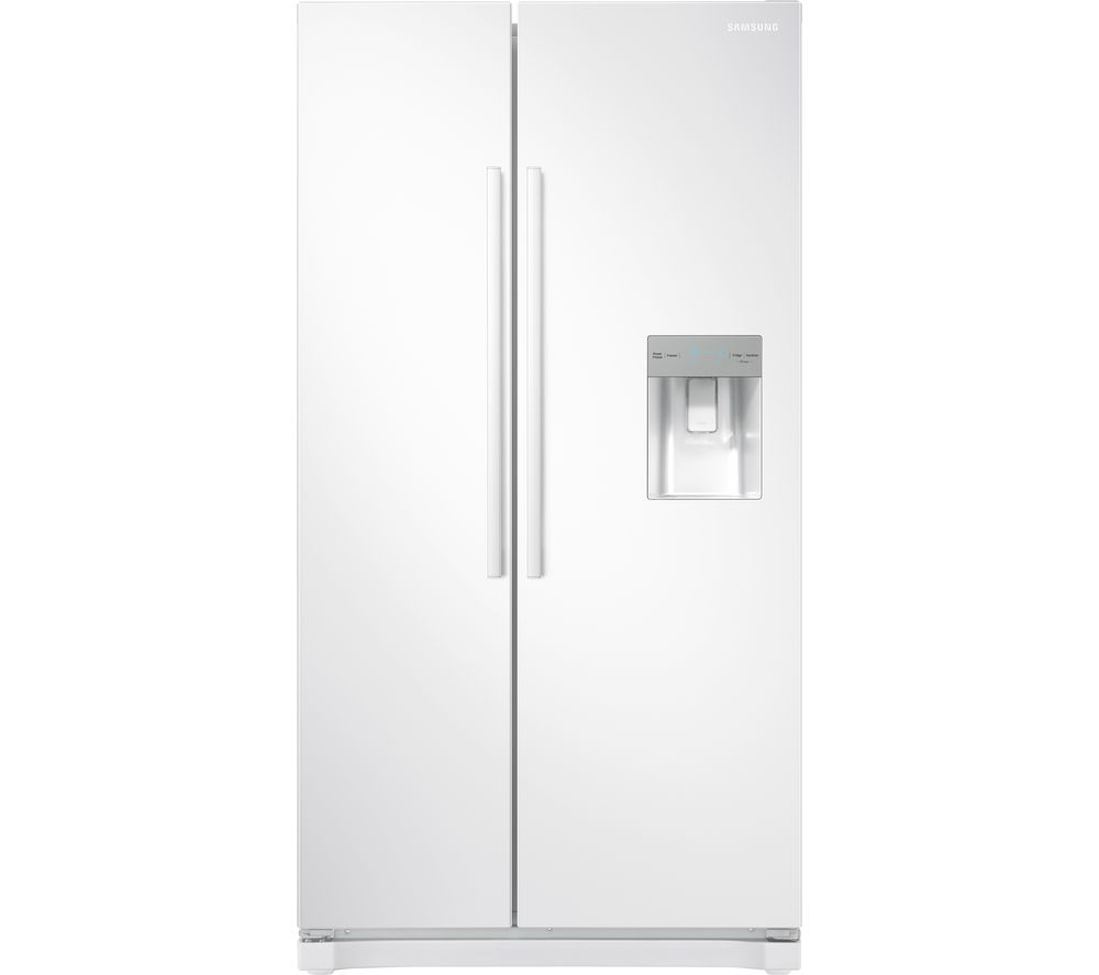 SAMSUNG American-Style Fridge Freezer White RS52N3313WW, White