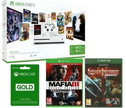 MICROSOFT Xbox One with Game Pass, Mafia III, Killer Instinct & Live Gold Membership x 2 Bundle