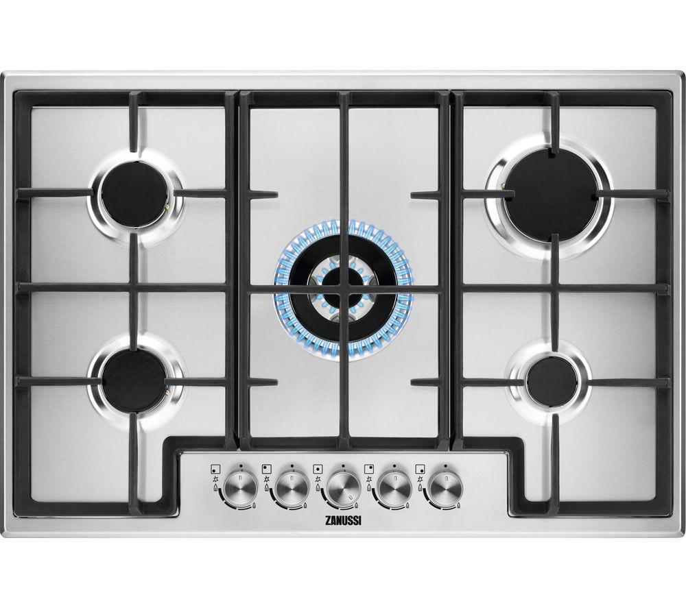 ZANUSSI ZGH76524XX Gas Hob – Stainless steel, Stainless Steel