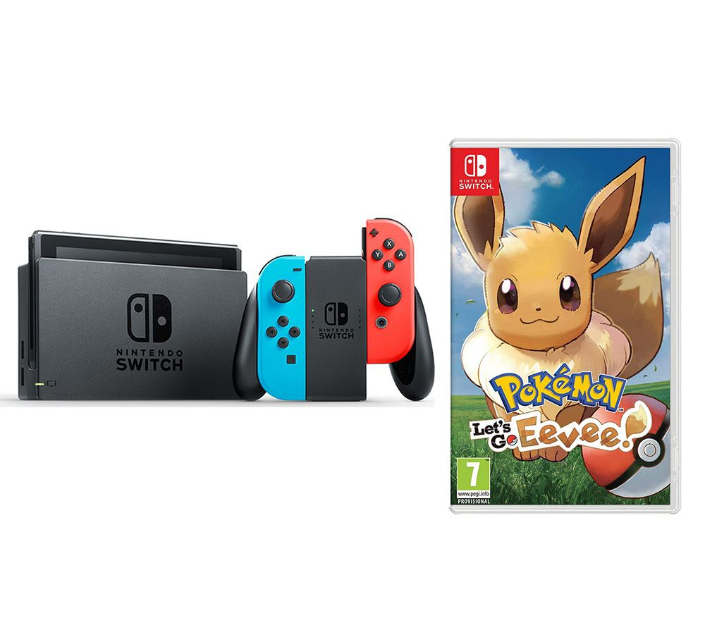 fefc0a699dcf69 Buy NINTENDO Switch Neon Red & Pokemon: Let's Go, Eevee! Bundle | Free  Delivery | Currys